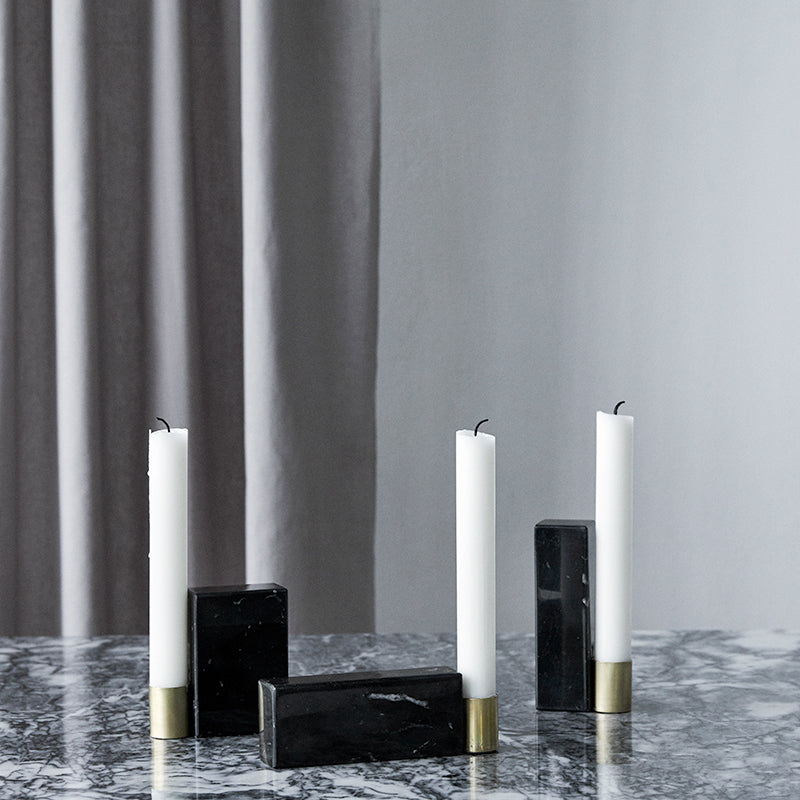 marble candle stick holders square kristina dam design studio