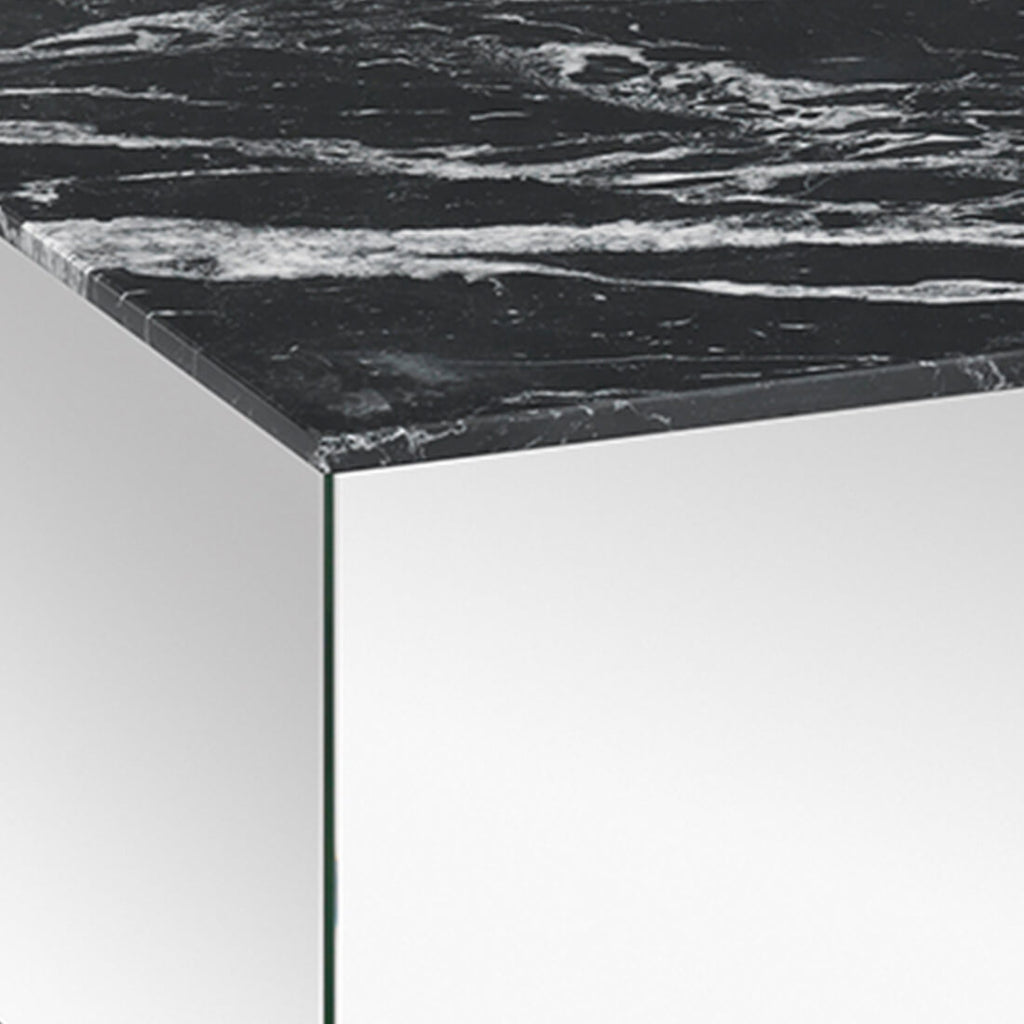 black marble mirror coffee table kristina dam studio