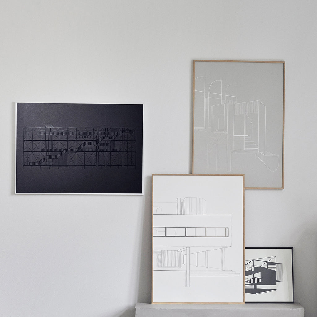 Buy beautifully architecturally illustrated art posters at Kristina Dam studio
