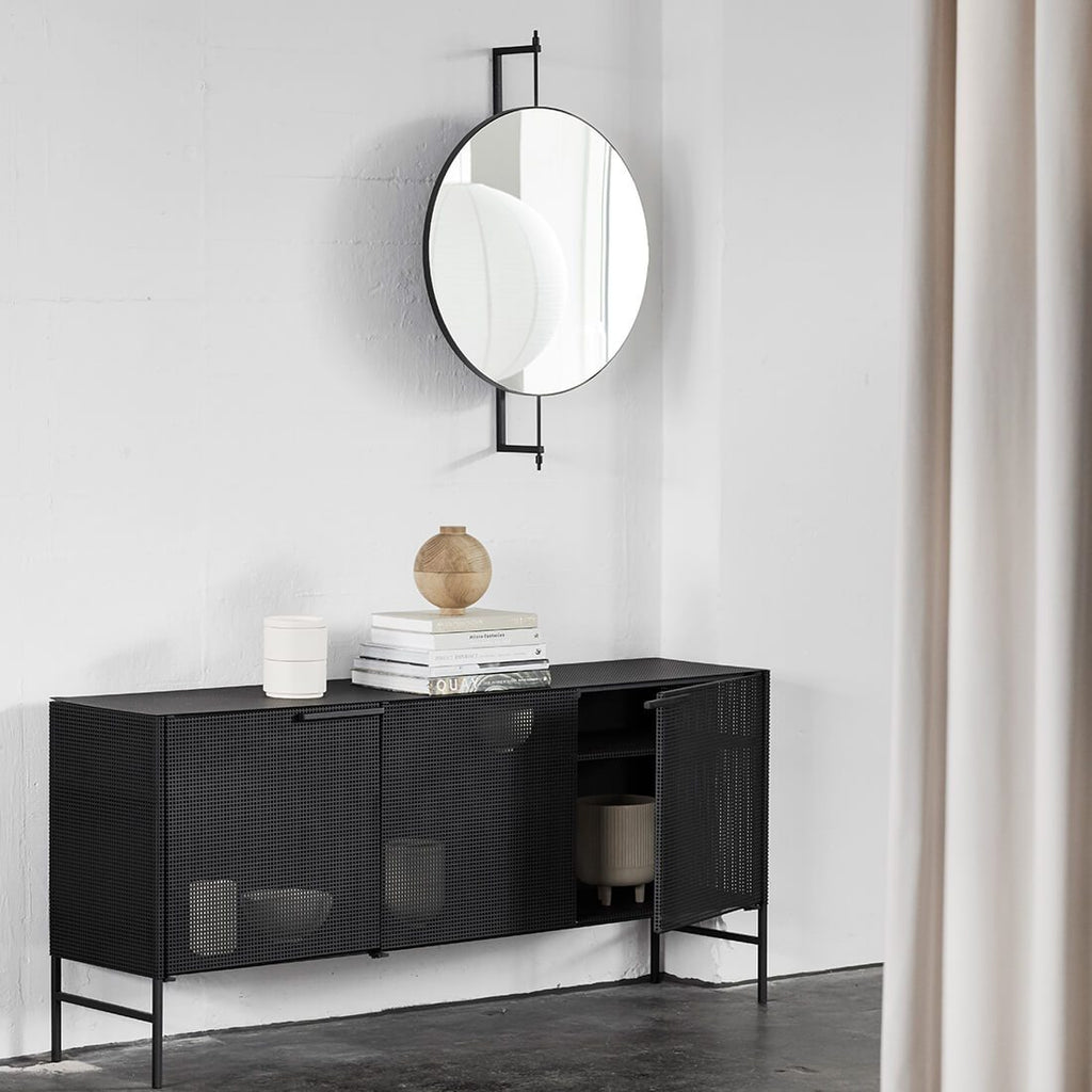 kristina dam studio rotating mirror black mirror