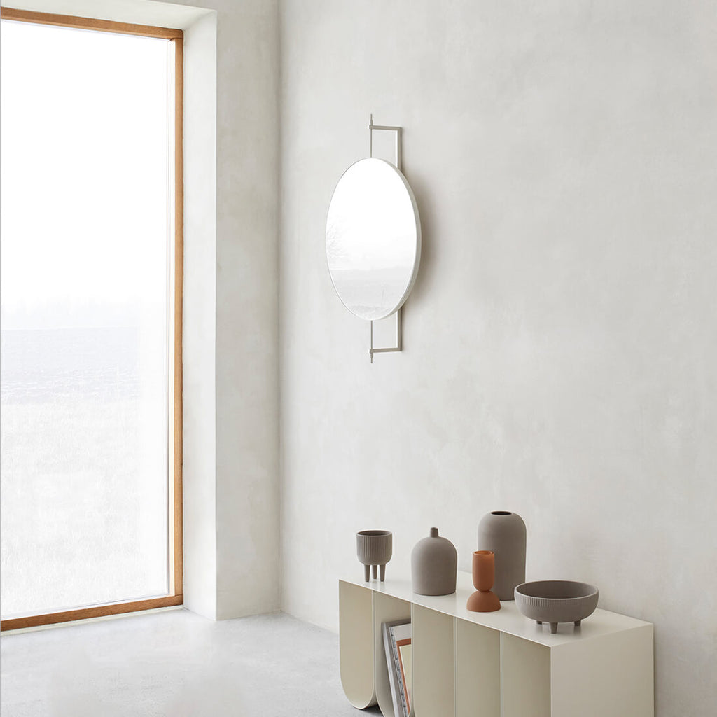 wall mirror for bathroom in danish design