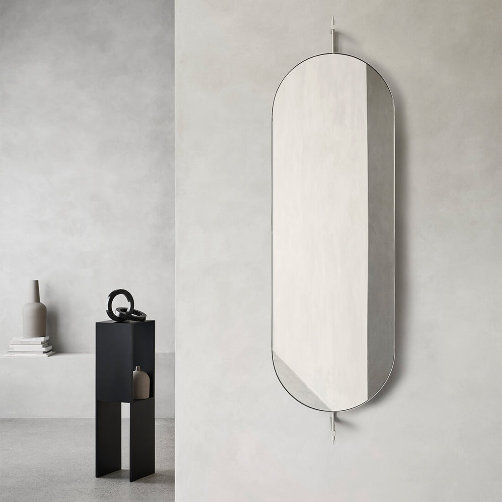 shop Kristina Dam studio rotating mirror in beige