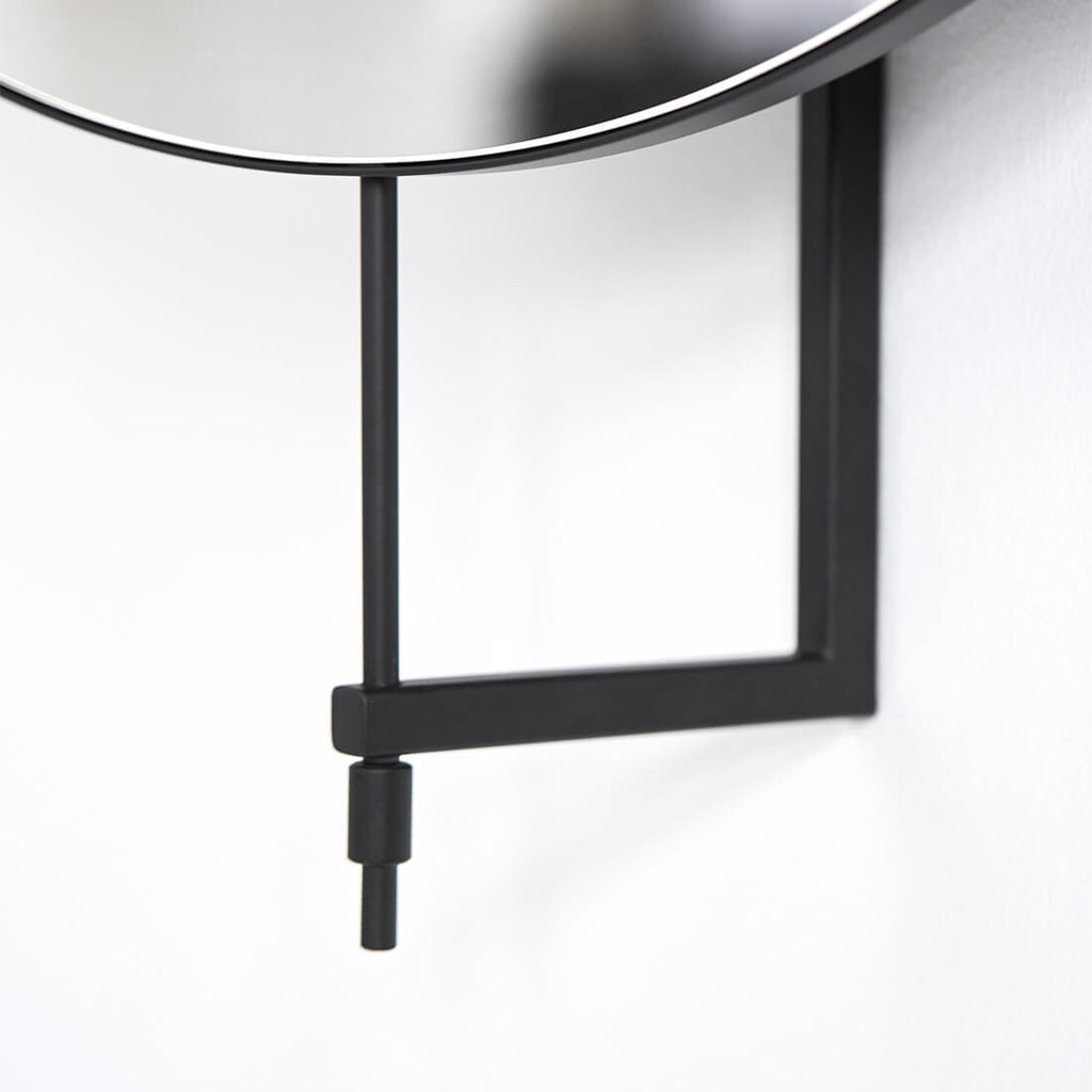 large full size rotating mirror in danish design