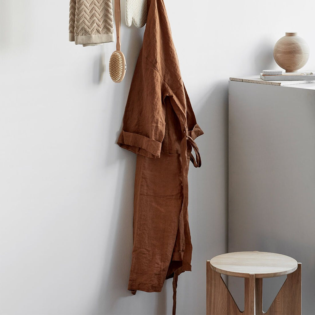 kristina dam studio wood stool bathroom round