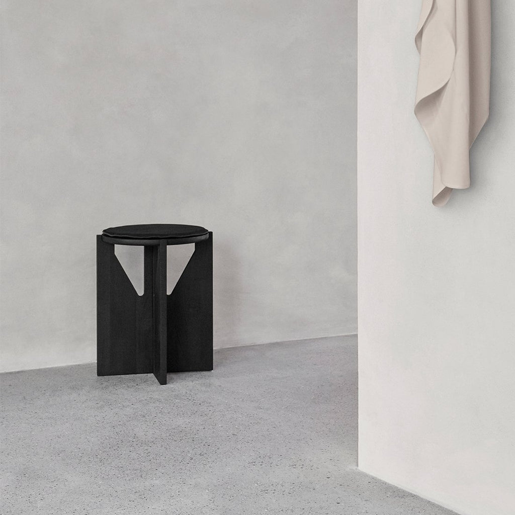 kristina dam studio round black stool danish design