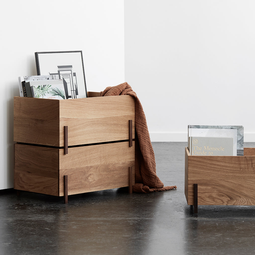 customizable storage boxes wood kristina dam studio