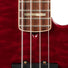 2004 Fender American Deluxe Quilted Maple Top Jazz Bass Guitar, Bing Cherry Transparent, DZ4002536