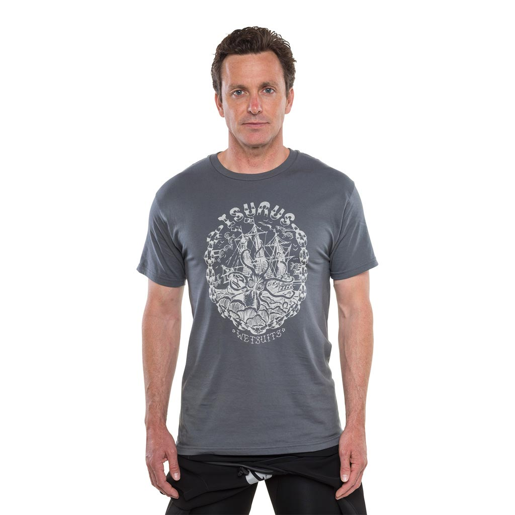 Isurus Kraken Sea Monster T-Shirt - Charcoal