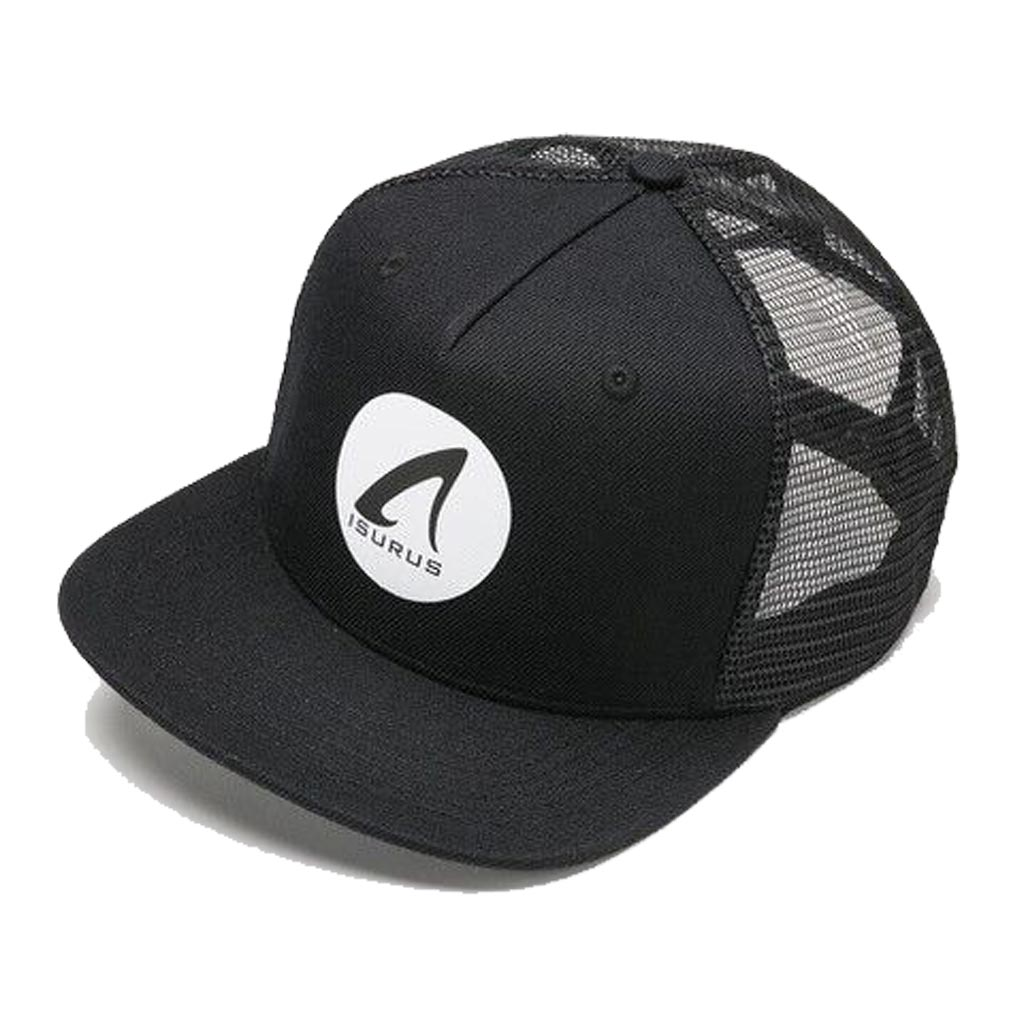 Isurus 5 Panel Snapback Trucker Cap - Black