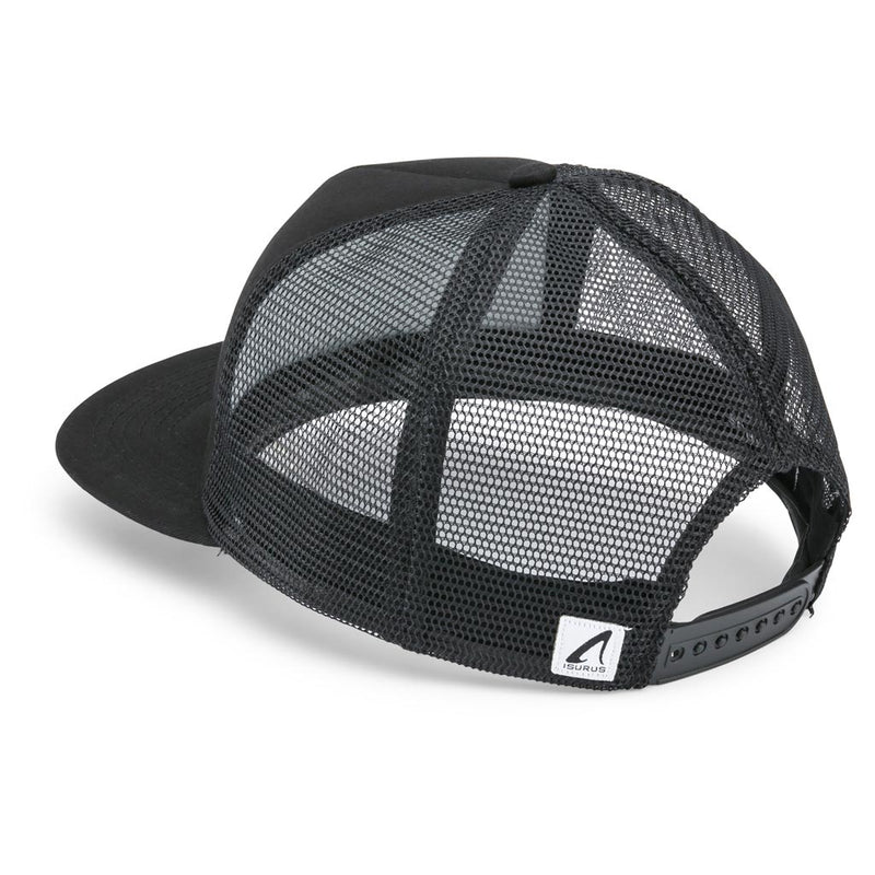 Isurus Built For The Sea 5 Panel Snapback Trucker Cap - Black
