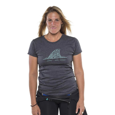 Womens Isurus Built For The Sea T-Shirt - Charcoal