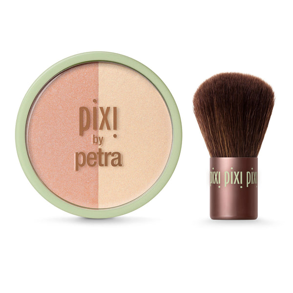 PIXI - Beauty Blush Duo + Kabuki - Peach Honey - Divaful Beauty - cruelty free makeup beauty - vegan beauty - vegan skincare - vegan makeup - Australian beauty - australian skincare