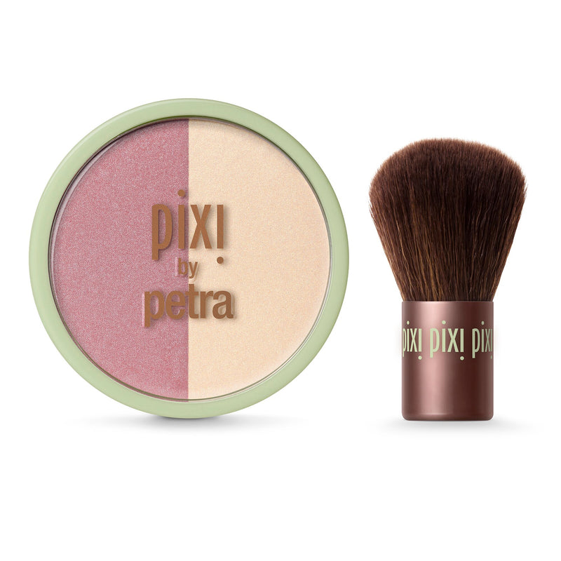 PIXI - Beauty Blush Duo + Kabuki - Rose Gold - Divaful Beauty - cruelty free makeup beauty - vegan beauty - vegan skincare - vegan makeup - Australian beauty - australian skincare