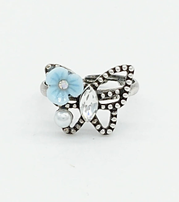 Studded Butterfly rings