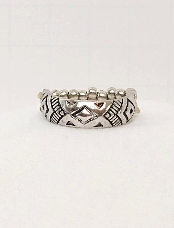 (Unk.) Silver Incan ring