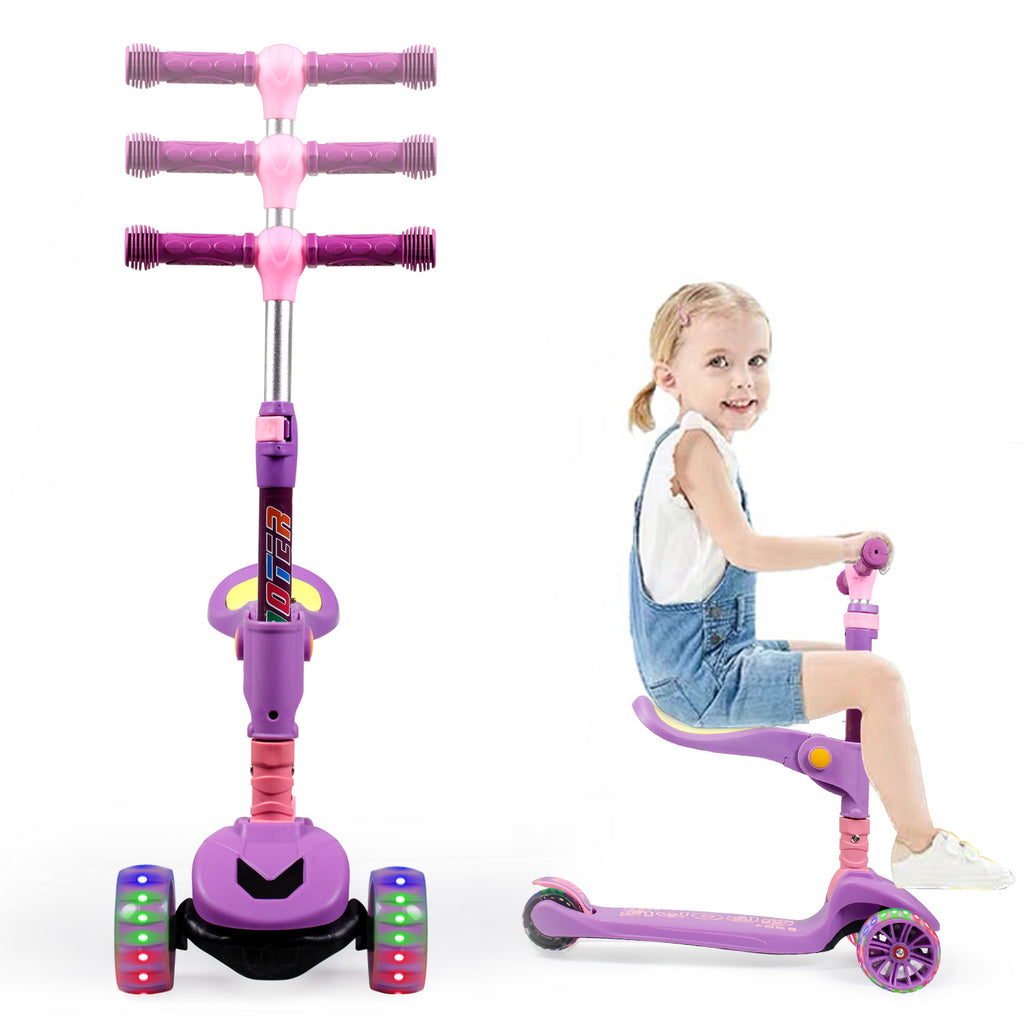 SISIGAD Kick Scooter for Kids w/Seat (4 Colors) - SISIGAD
