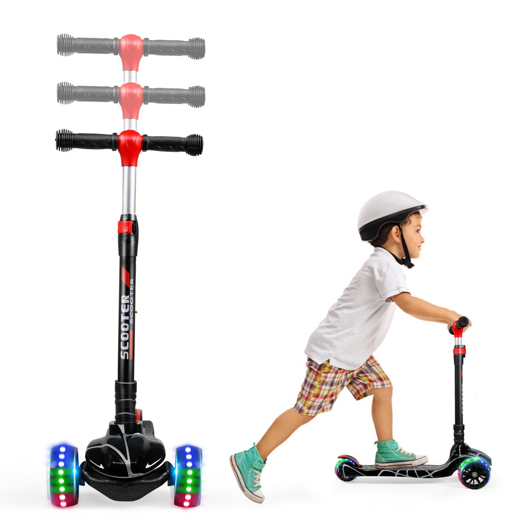 SISIGAD Kick Scooter for Kids (spider Blue/Red/Black) - SISIGAD
