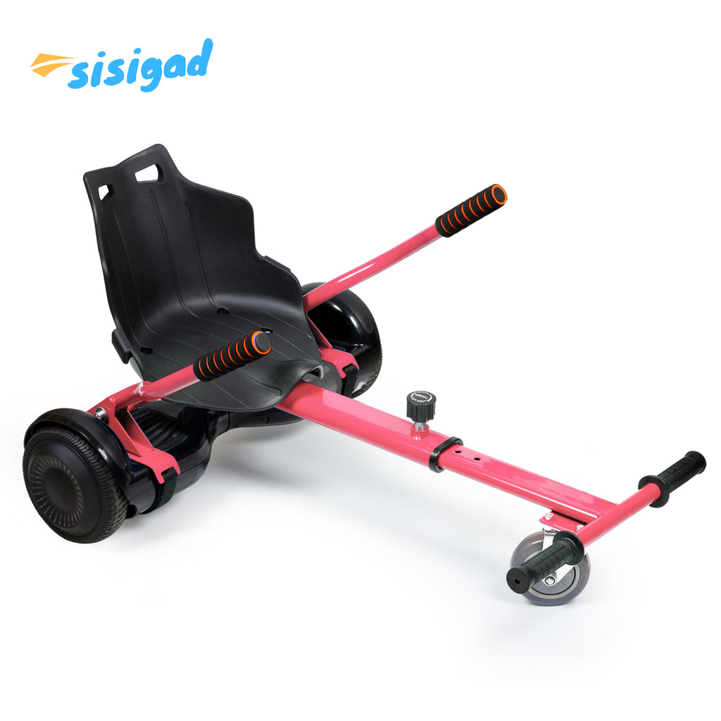 SISIGAD Hoverboard Kart, Two-Wheel Hoverboard Attachment for Transforming Hoverboard Scooter into Go-Kart, Size Adjustable (Hoverboard NOT Included) - SISIGAD