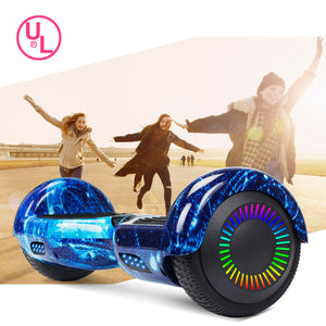 "SISIGAD 6.5"" Two-Wheels Self Balancing Hoverboard with Bluetooth and UL 2272 Certified Electric Scooter for Kids Adult  (Starry Night Sky) - SISIGAD"