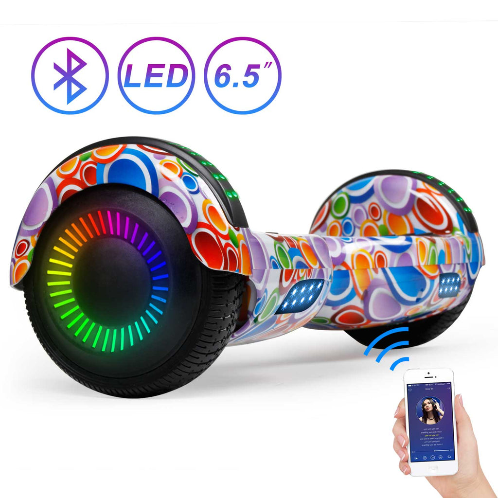 "SISIGAD 6.5"" Hoverboard with Bluetooth (Graffiti / 4 Colors) - SISIGAD"