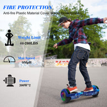 "Load image into Gallery viewer, SISIGAD 6.5"" Two-Wheels Self Balancing Hoverboard with Bluetooth and UL 2272 Certified Electric Scooter for Kids Adult  (Starry Night Sky) - SISIGAD"