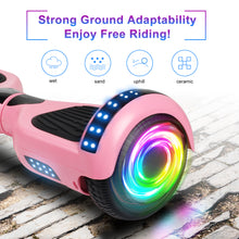 "Load image into Gallery viewer, SISIGAD 6.5"" Two-Wheels Self Balancing Hoverboard with Bluetooth and UL 2272 Certified Electric Scooter for Kids Adult  (Matte Pink) - SISIGAD"