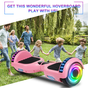 "SISIGAD 6.5"" Two-Wheels Self Balancing Hoverboard with Bluetooth and UL 2272 Certified Electric Scooter for Kids Adult  (Matte Pink) - SISIGAD"