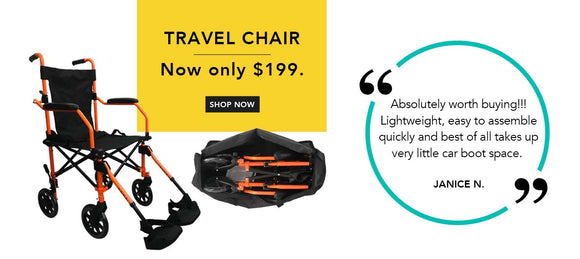 HappyWheels Travel Wheelchair On Sale At $199