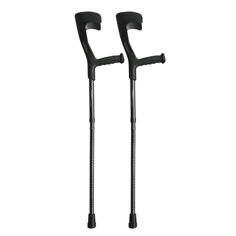 Black Urban Foldable Crutches (Pair)