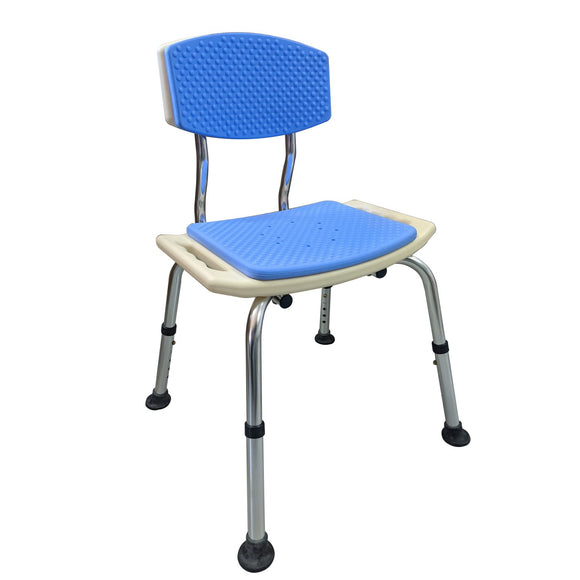 Comfy Padded Shower Chair with Backrest Default