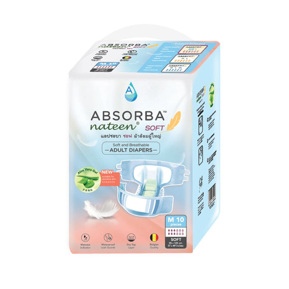 Daily Living ABSORBA Nateen (Soft) Adult Diapers (10s)
