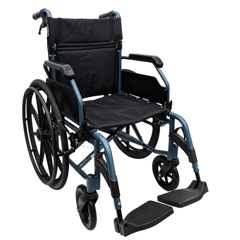 HappyWheels Hero Chair Lightweight Wheelchair Teal