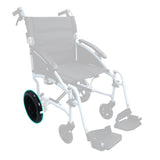 HappyWheels Lightweight Ergonomic Chair Replacement Parts Rear Wheel