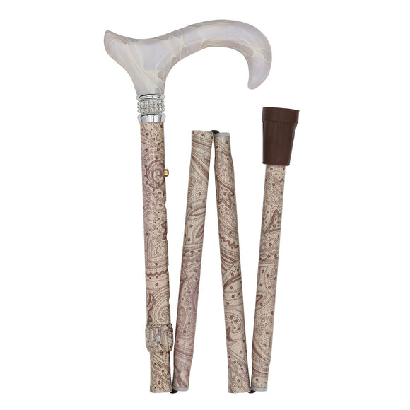 Mobility Creme Pearl Folding Designer Cane