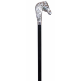 Nickel Plated Horse Hardwood Cane Default