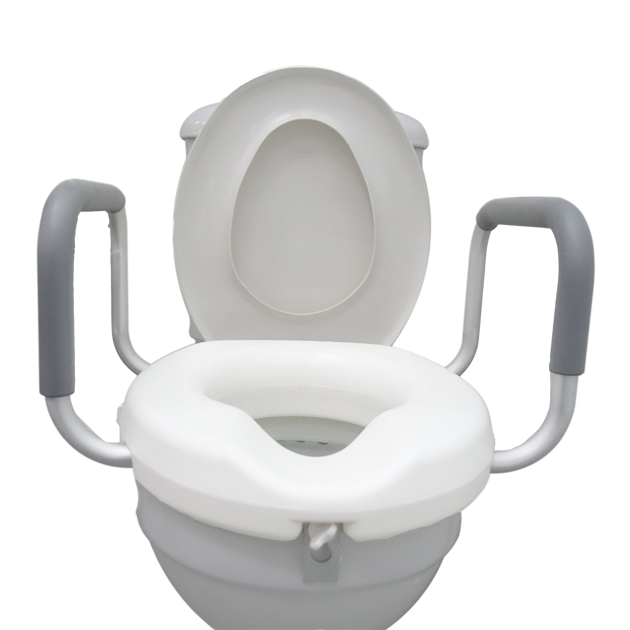 Raised Toilet Seat 3 With Handles The Golden Concepts