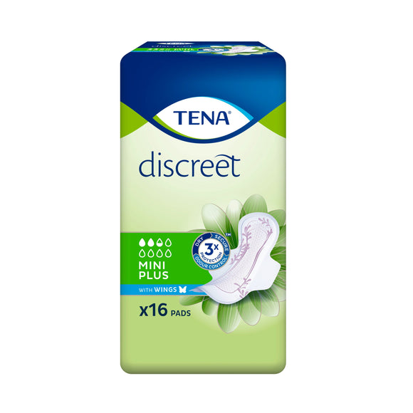 TENA Lady Discreet Mini Plus with Wings Carton (8 Packs)