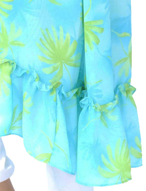 Acqua color printed open front kimono for your summer look. Acqua Bonita resort wear.