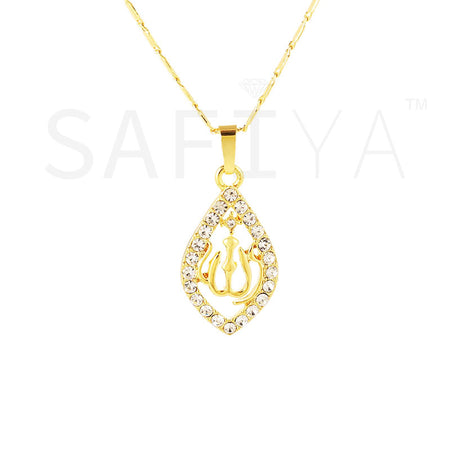 Collier La perle Allah en arabe en or