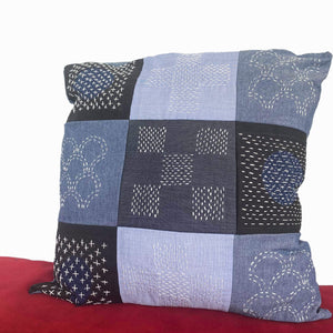 SASHIKO + BORO | UP-CYCLED PATCHWORK CUSHION