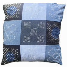 Load image into Gallery viewer, SASHIKO + BORO | UP-CYCLED PATCHWORK CUSHION