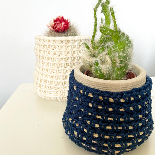 CROCHET PLANT POT BASKETS