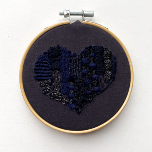 ABSTRACT EMBROIDERED HEART PATCH WORKSHOP | DONATIONS TO BLACK VISIONS COLLECTIVE