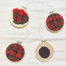 Load image into Gallery viewer, Online Sashiko + Boro Christmas Tree Decoration Workshop (set of 4)