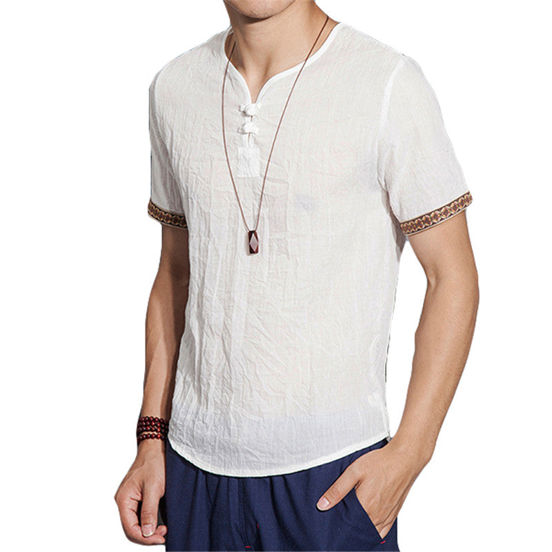 Linen Men Shirts Chinese Culture Men's Shirt