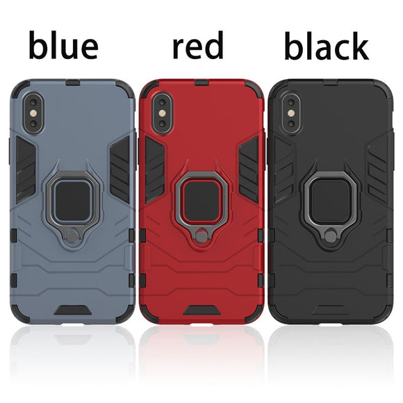 Magnetic ring bracket iPhone X/xs/xr/6plus phone case