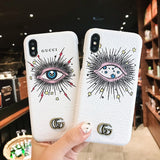 Mysterious Star Eyes Star Print for Iphone - Mysterious Pattern Phone Case