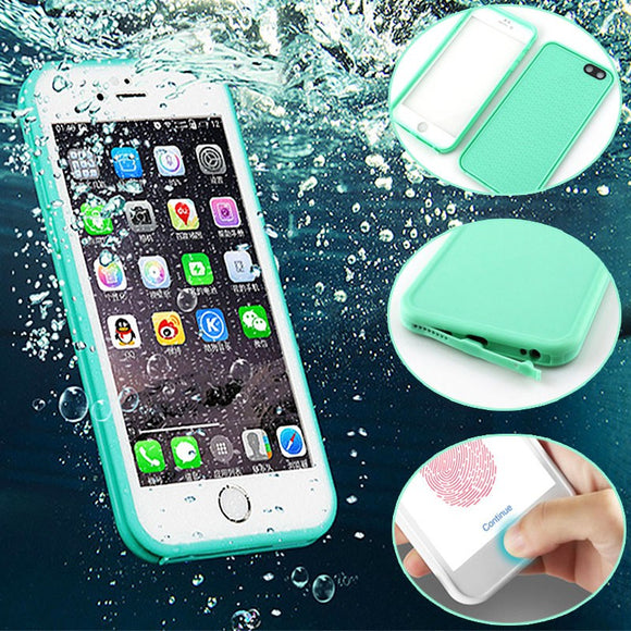 Practical waterproof TPU phone case for iPhone 7 6 Plus 6s 5s 5 se