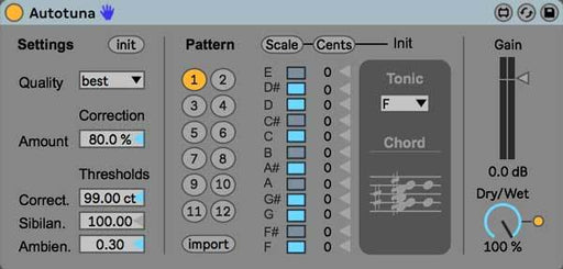 Autotuna - Autotune for Ableton - PausePlayRepeat