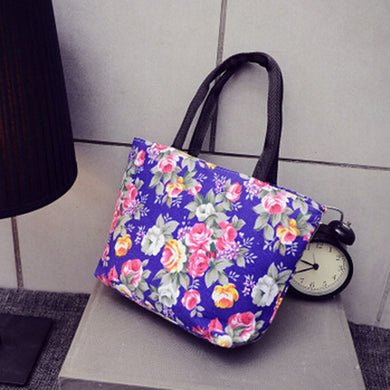 Fashion Women Girls Printing Canvas Shopping Handbag Shoulder Tote Shopper Bag